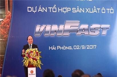 Thủ tướng nói về tham vọng sản xuất ô tô thương hiệu Việt của Vingroup