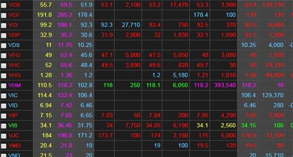 Chứng khoán ngày 22/5: VN-Index không cứu được mốc 1.000 điểm với 20 cổ phiếu VHM