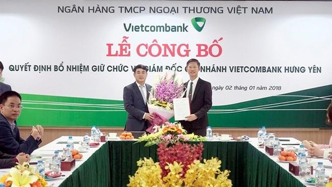 Vietcombank bổ nhiệm hàng loạt nhân sự mới ở miền Bắc