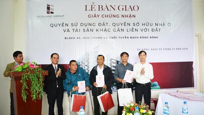 Vicoland đồng loạt trao sổ hồng dự án nhà ở xã hội tại Huế và Đà Nẵng