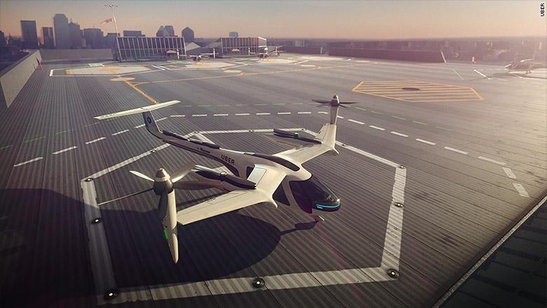 NASA và Uber hợp tác phát triển dự án taxi bay