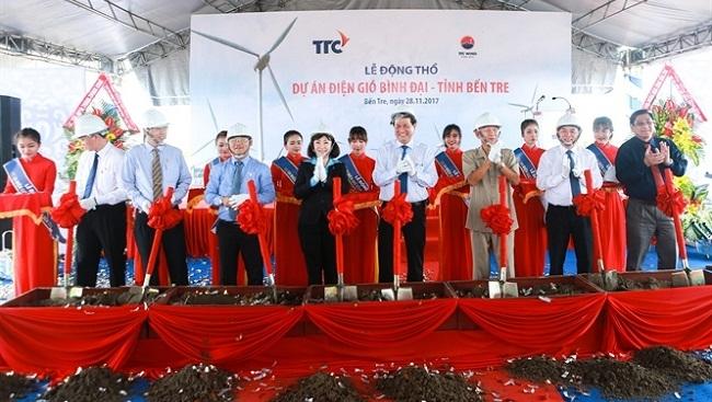 Tập đoàn Thành Thành Công khởi công dự án điện gió 1.500 tỷ đồng ở Bến Tre