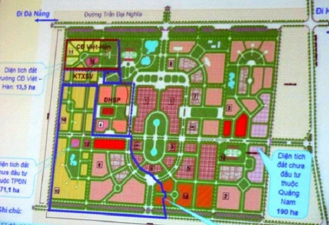 Dự án đô thị đại học Đà Nẵng 8.620 tỷ đồng bao giờ được triển khai?