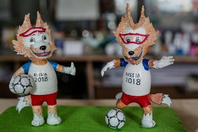 Không chỉ có cúp World Cup, Việt Nam còn có linh vật từ vỏ trứng 1