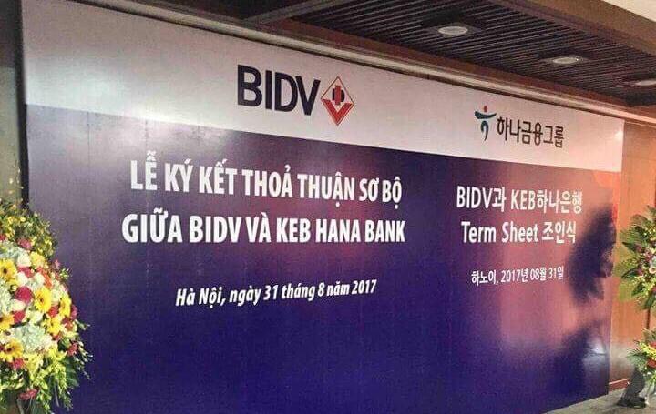 Ngân hàng Hàn Quốc sắp trở thành cổ đông chiến lược của BIDV