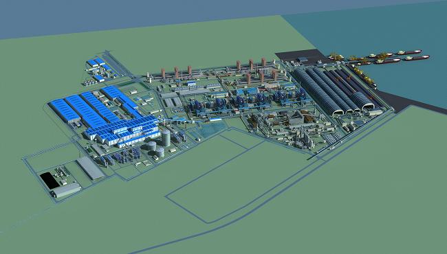 Nhà máy thép Hòa Phát Dung Quất vẫn chưa có đủ mặt bằng dù sắp hoạt động