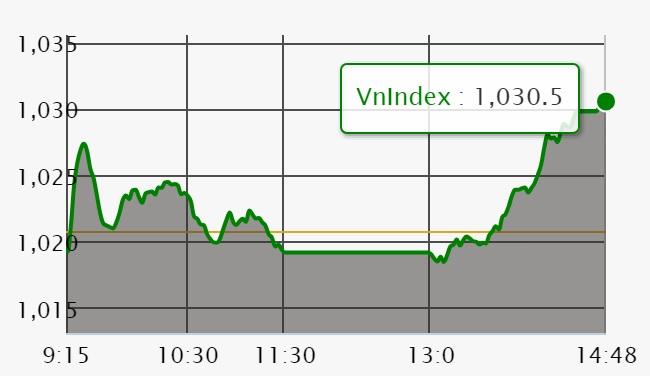 Chứng khoán ngày 13/6: VN-Index lấy lại mốc 1.030 điểm khi khối lượng giao dịch tụt gần 1/2