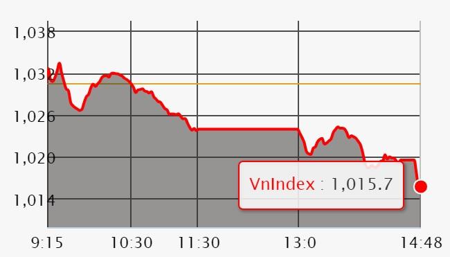 Chứng khoán ngày 14/6: Thiếu trụ đỡ chính, VN-Index bị 'thổi bay' 15 điểm