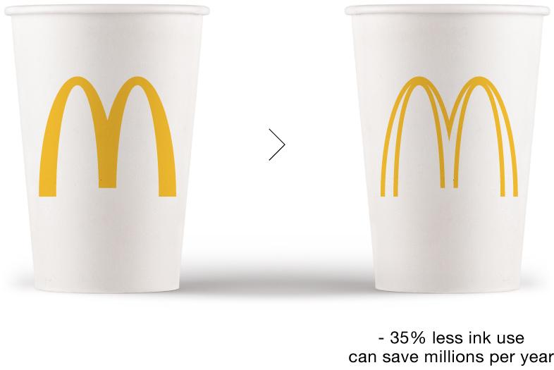 Dùng ít mực hơn để in logo giúp bảo vệ môi trường  1