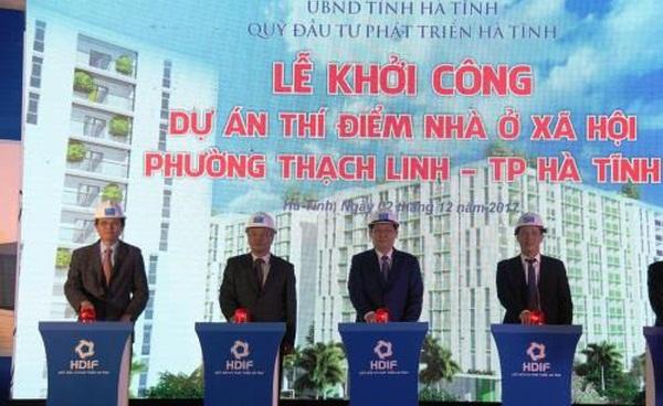 Khởi công dự án nhà ở xã hội gần 1.000 căn tại Hà Tĩnh