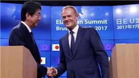 EU 'nắm tay' Nhật Bản đi ngược lại chiến tranh thương mại