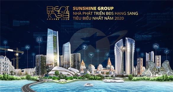 Sunshine Group được vinh danh 'Nhà phát triển bất động sản hạng sang tiêu biểu nhất 2020'