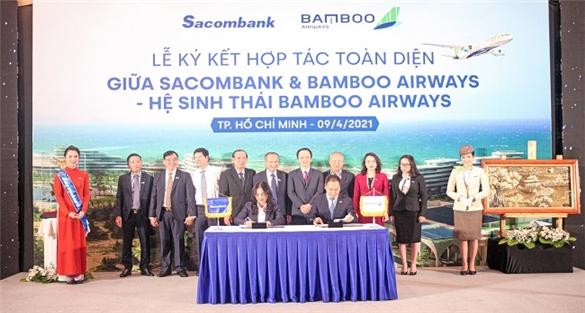 Sacombank hợp tác toàn diện với Bamboo Airways