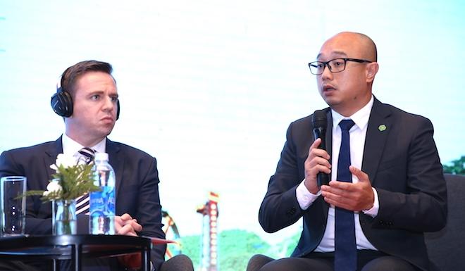 Ông Nguyễn Thái Phiên, Giám đốc cấp cao Tập đoàn Novaland trao đổi tại phiên Toạ đàm.