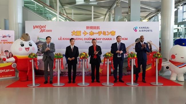 Vietjet mở đường bay thẳng từ TP. HCM đến Osaka