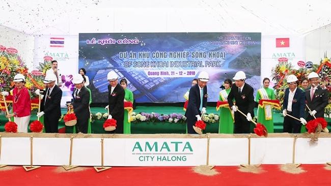 Đại gia Thái Lan khởi công thành phố thông minh Amata Hạ Long 1,6 tỷ USD