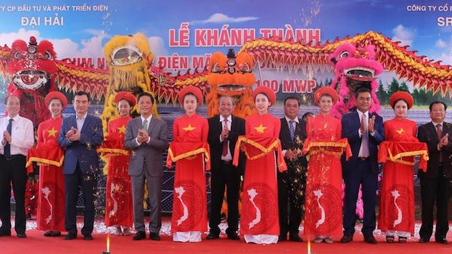 Khánh thành cụm nhà máy điện mặt trời lớn nhất Việt Nam