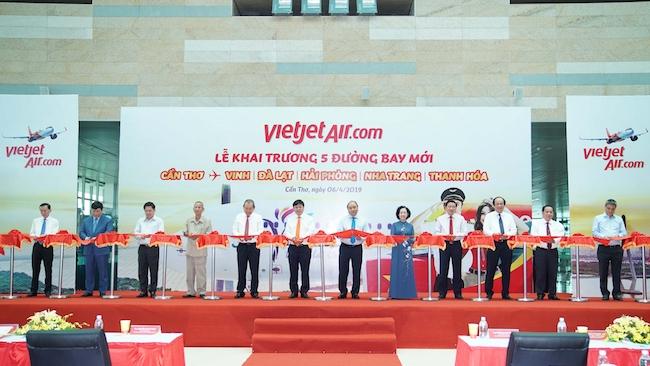 Vietjet khai trương 5 đường bay mới đi và đến Cần Thơ