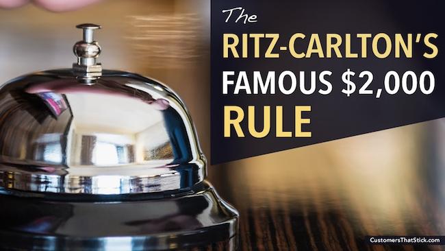 Quy tắc 2.000 USD của Ritz Carlton và bài học tạo trải nghiệm để đời cho khách hàng