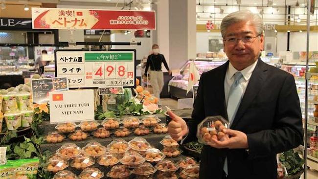 Vải thiều Lục Ngạn cháy hàng ở Nhật dù bán giá hơn 500 nghìn/kg