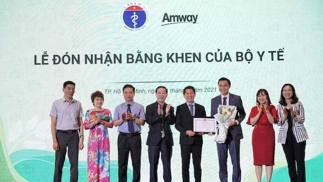 Amway lần thứ hai nhận bằng khen của Bộ Y tế