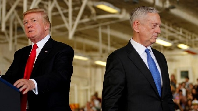 Bộ trưởng Quốc phòng Mỹ 'dứt áo ra đi' vì bất đồng với ông Trump