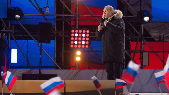 Ông Putin giành chiến thắng áp đảo, tái đắc cử tổng thống