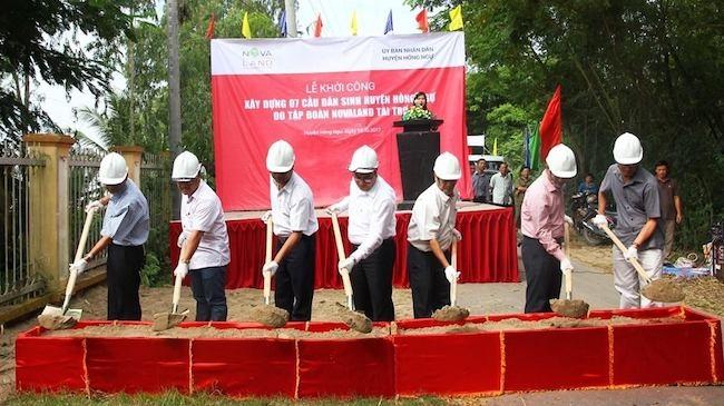 Novaland tài trợ 15 tỷ đồng xây cầu dân sinh