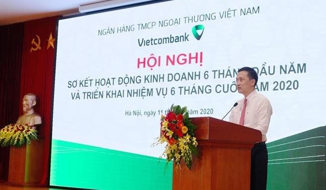 Vietcombank tăng trưởng tín dụng 5% trong 6 tháng đầu năm