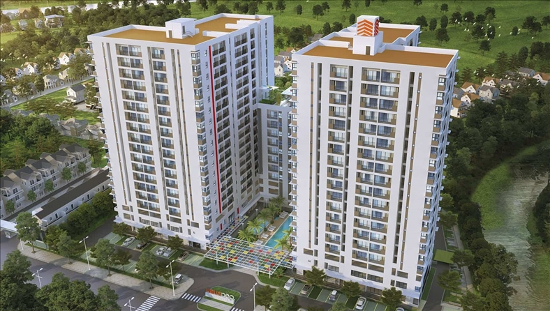 Dự án căn hộ HausNeo cất nóc vượt tiến độ