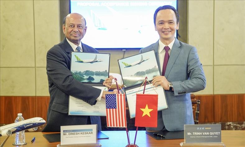 Bamboo Airways ký thỏa thuận mua 20 máy bay Boeing 787-9 Dreamliner