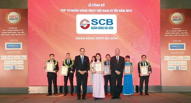 SCB nhận giải 'Top 10 ngân hàng thương mại cổ phần tư nhân uy tín năm 2019'