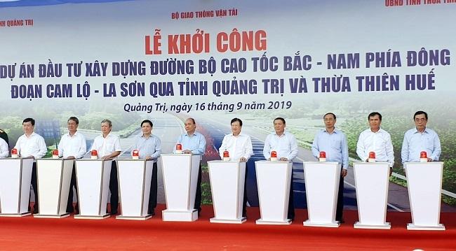 Thủ tướng phát lệnh khởi công dự án đầu tiên trong tuyến cao tốc Bắc - Nam
