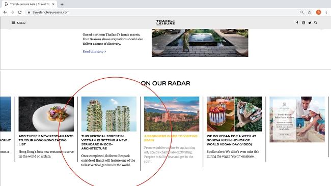 Tòa tháp xanh cao nhất Việt Nam lên tạp chí danh tiếng của Mỹ