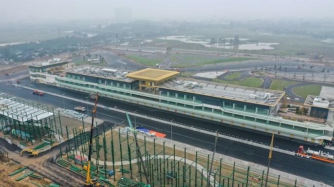 Toàn cảnh đường đua F1 Hà Nội trong giai đoạn hoàn thiện