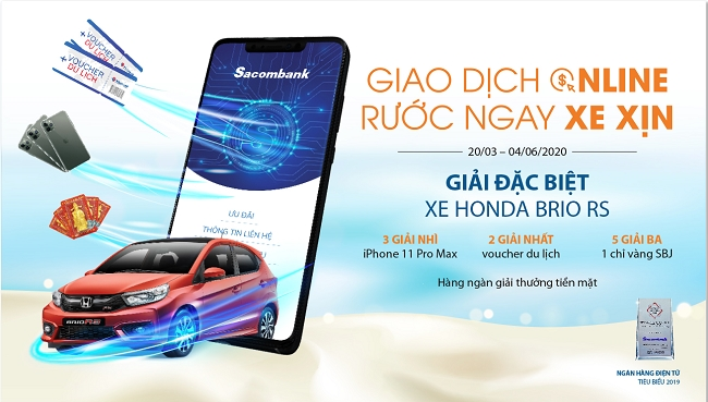 'Giao dịch Online - Rước ngay xe xịn' với Sacombank