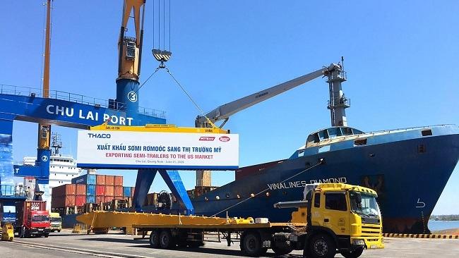 Thaco tiếp tục xuất khẩu sơ-mi rơ-moóc sang Mỹ