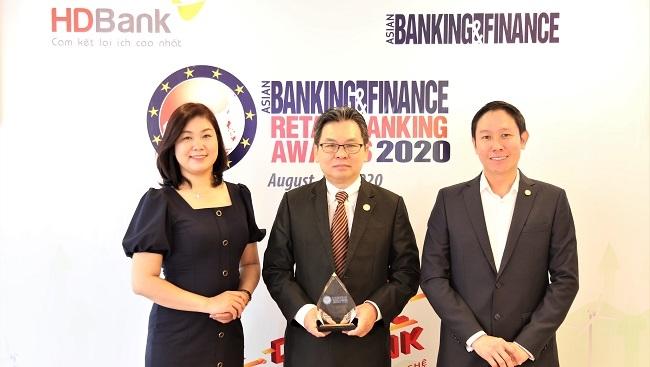 HDBank nhận giải 'Ngân hàng bán lẻ nội địa tốt nhất 2020'