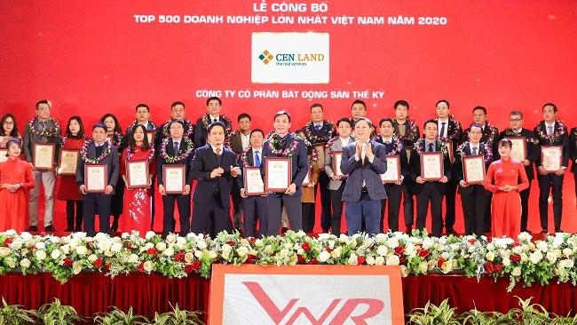 Cen Land lọt Top 500 doanh nghiệp lớn nhất Việt Nam 2020