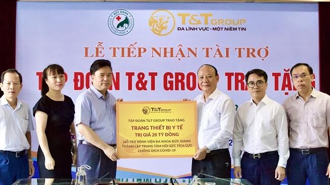T&T Group tài trợ 20 tỷ đồng giúp Bệnh viện Đức Giang lập trung tâm ICU