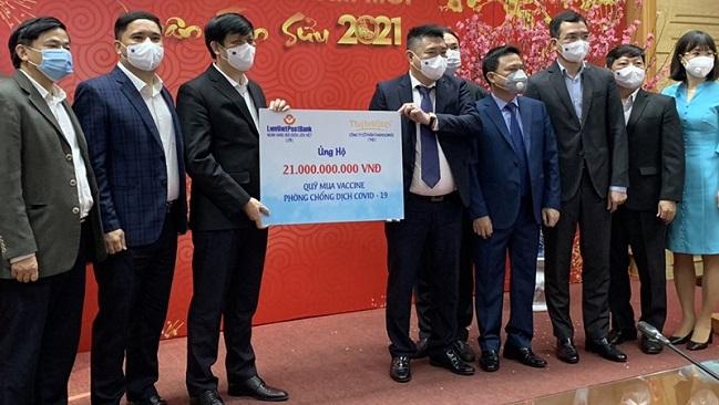 LienVietPostBank và Thaiholdings tặng 21 tỷ đồng cho Quỹ mua Vaccine ngừa Covid-19