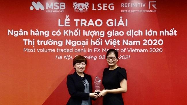 MSB là ngân hàng có khối lượng giao dịch ngoại hối lớn nhất Việt Nam