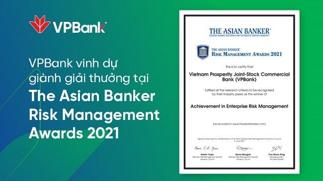 VPBank nhận giải quản trị rủi ro danh giá cấp châu lục lần thứ 2 liên tiếp