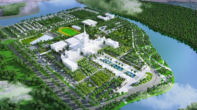 Xây dựng đại học VinUni trong khu đô thị VinCity Gia Lâm