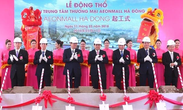 Động thổ dự án trung tâm thương mại AEON Mall Hà Đông