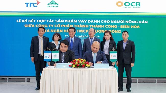Thành Thành Công - Biên Hòa hợp tác với Ngân hàng OCB tăng cường hỗ trợ nông dân trồng mía