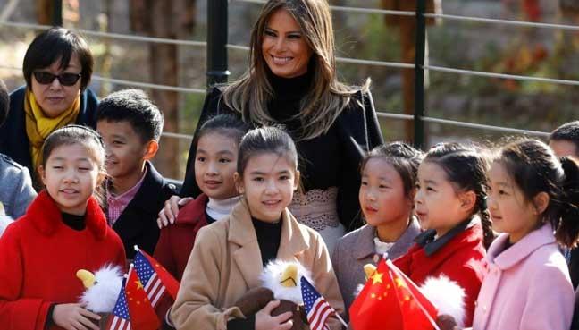 Đệ nhất phu nhân Mỹ không đến Việt Nam cùng chồng mà ở lại Trung Quốc du lịch