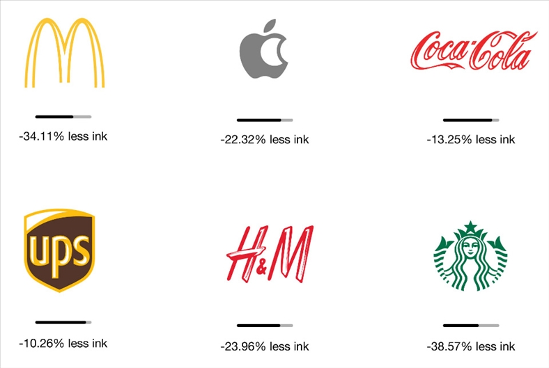 Dùng ít mực hơn để in logo giúp bảo vệ môi trường