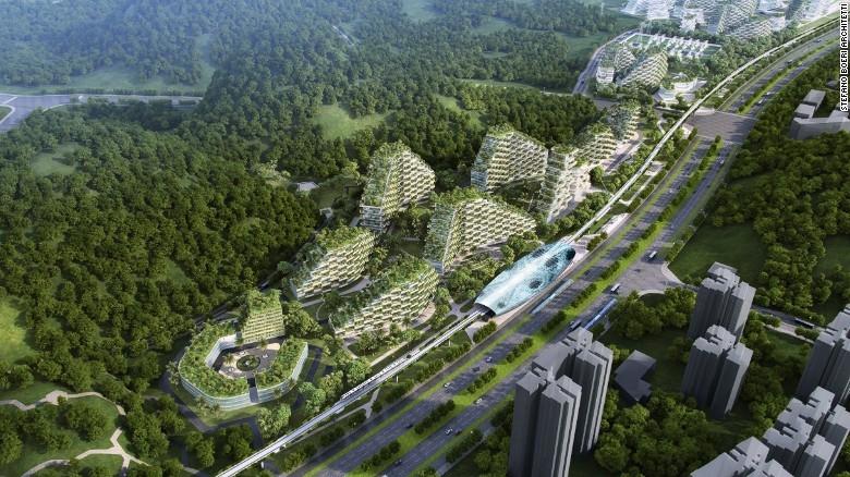 """Trung Quốc công bố kế hoạch xây dựng """"thành phố rừng"""" đầu tiên trên thế giới"""