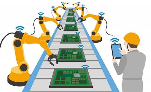 Xưởng sản xuất cơ khí sử dụng công nghệ trong làm việc